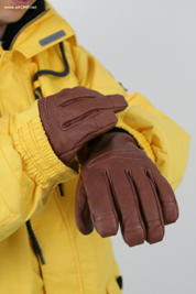 2012 Genuine Leather Gloves - Brown